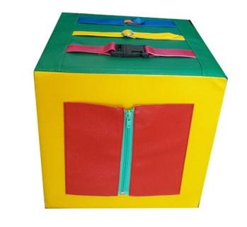 Сенсорный кубик своими руками 43